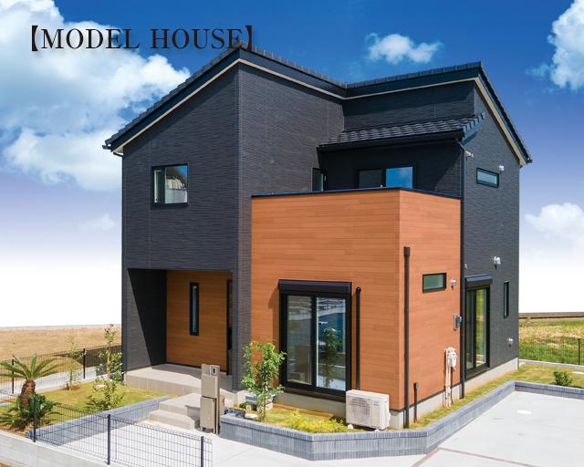 東金市台方モデルハウス建築中