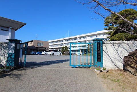 大網中学校約1000m