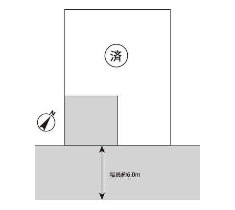 東金市西福俵3丁目区画図