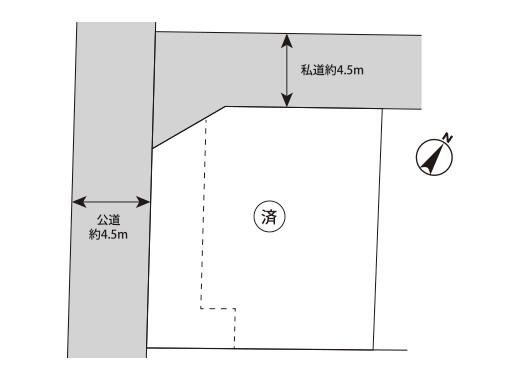 横芝光町横芝区画図