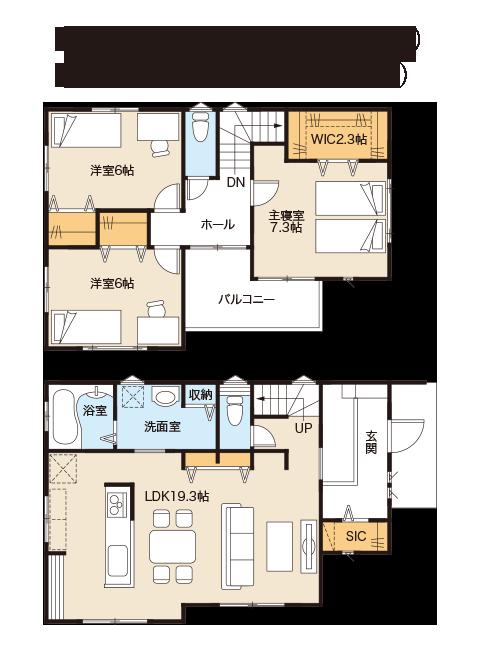 成田市本城モデルハウス間取